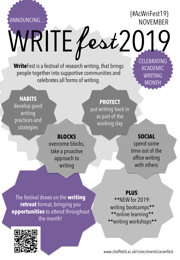 Image of WRITEfest 2019 poster