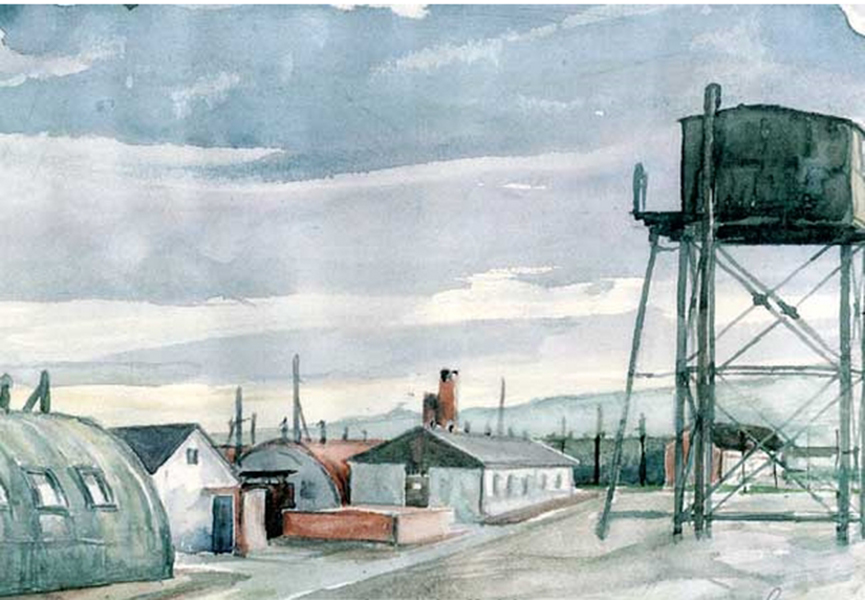 A painting of the Lodge Moor prisoner of war camp