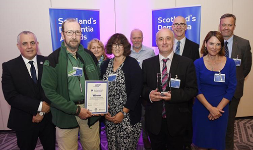 Mandy Cook and team win Scotland's Dementia Awards prize