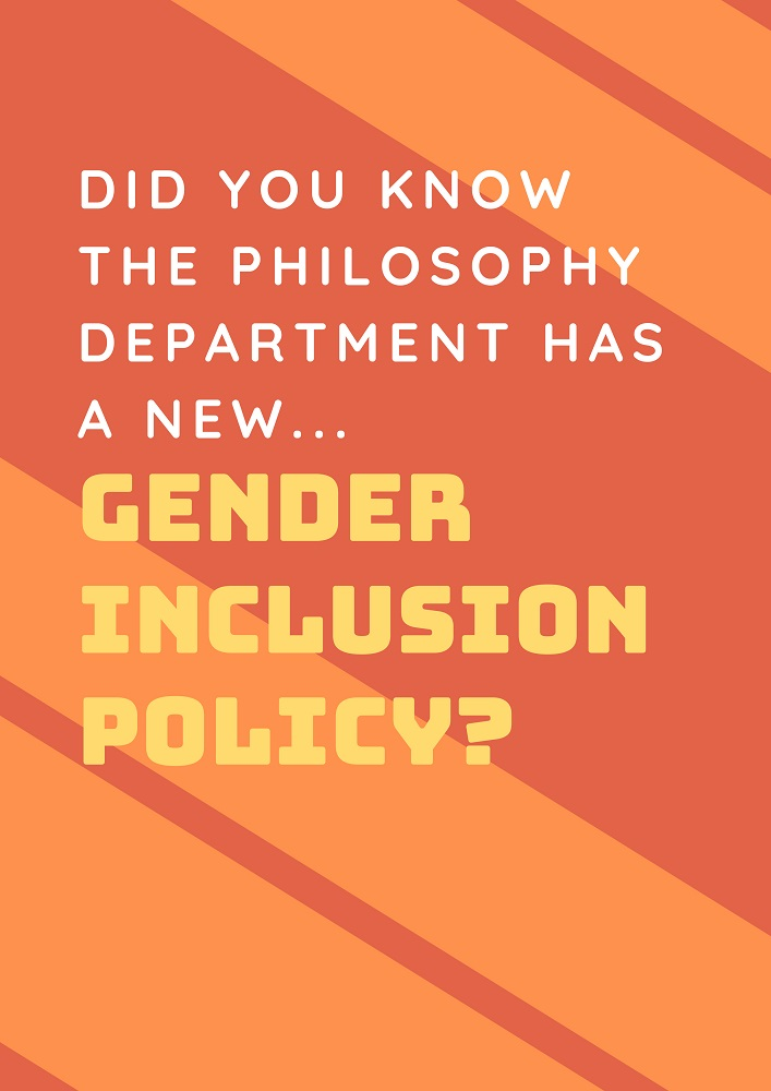 Signpost for Gender Inclusion Policy. Links to full policy.