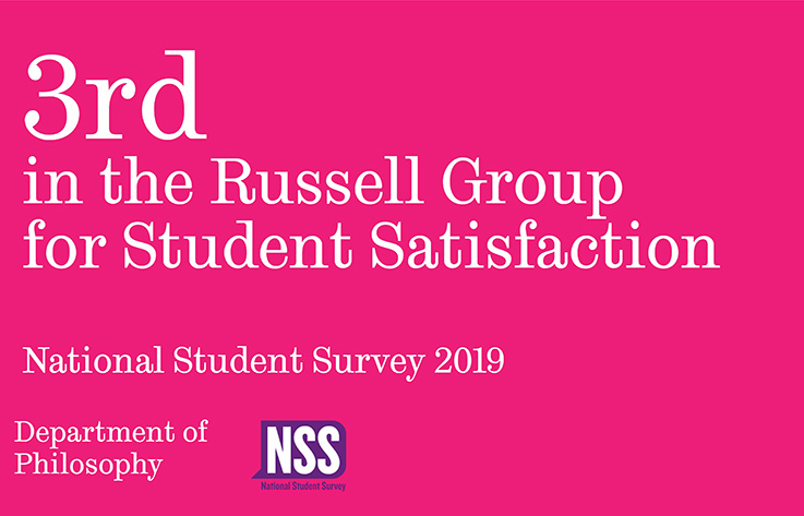 3rd in the Russell Group for Student Satisfaction graphic
