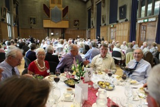 Guests enjoying the reunion luncheon
