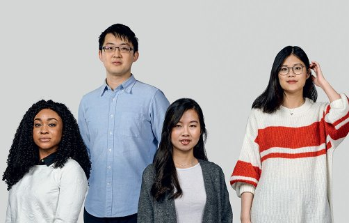 Group of postgraduate students