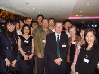 Vice Chancellor and guests at the reception