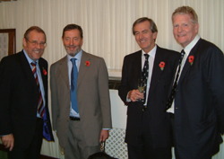 Richard Caborn MP and David Blunkett MP with the Vice-Chancellor