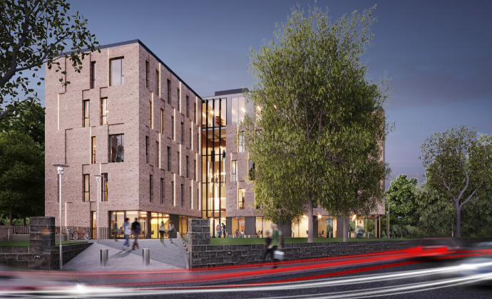 Artists' impression of proposed Northumberland Road building