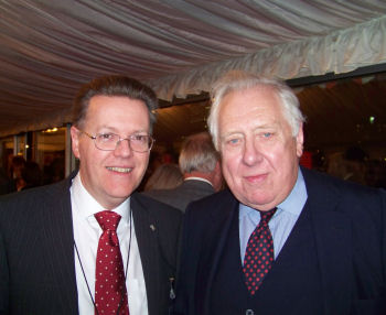 Photo: Professor Keith Burnett and Lord Hattersley