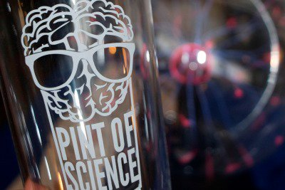 Pint of Science pint glass