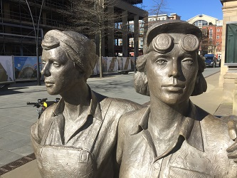 Women of Steel image with scaffolding in background
