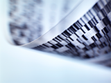 A stock image of the genome sequencing