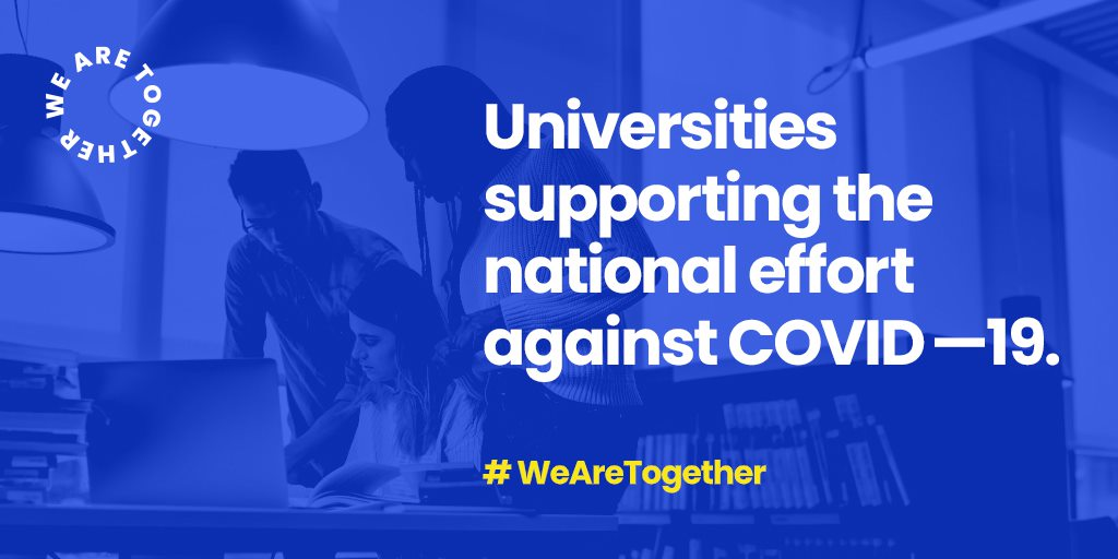 #WeAreTogether Universities supporting the national effort against COVID-19