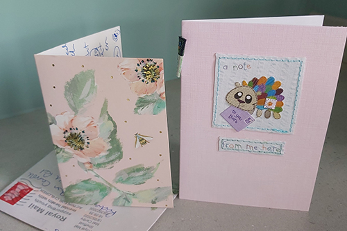 Kindness cards received by Rachael