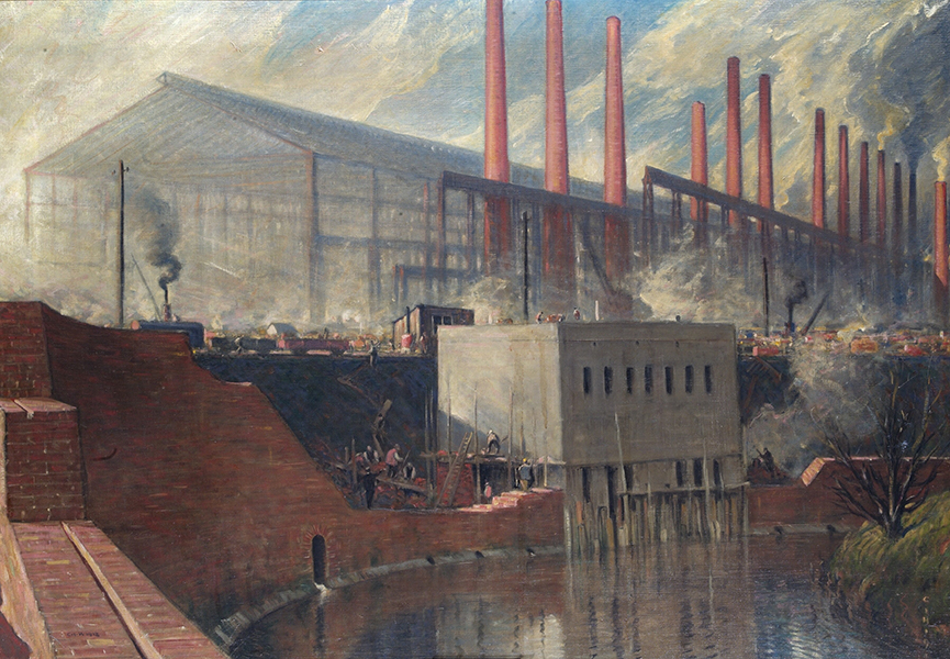 A painting of Osborn Mushet Works