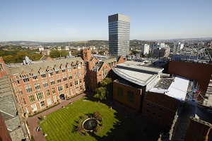 An aerial photograph of the campus of the University of Sheffield