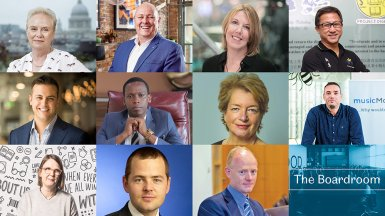 A collage of leading Sheffield alumni involved in The Boardroom masterclasses.