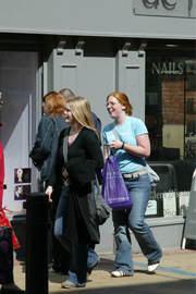 Students shopping in Sheffield city centre
