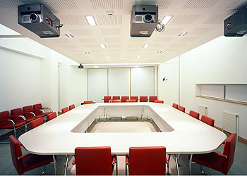 Committee meeting room in ICoSS building