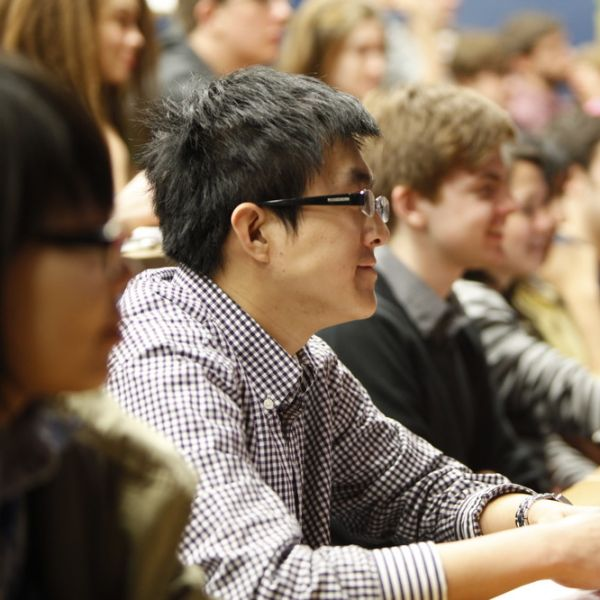 Students in a lecture theatre at the University of Sheffield