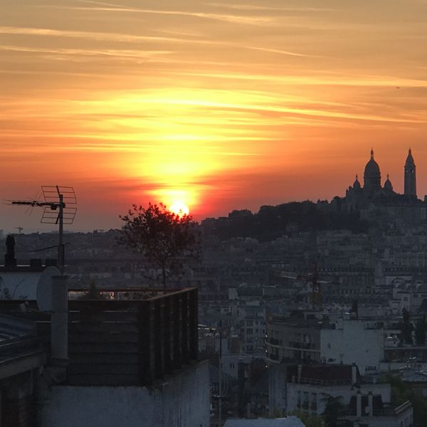 Sunset in Paris on a year abroad.
