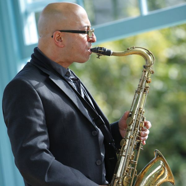 Instrumental tutor Piero Tucci playing saxophone