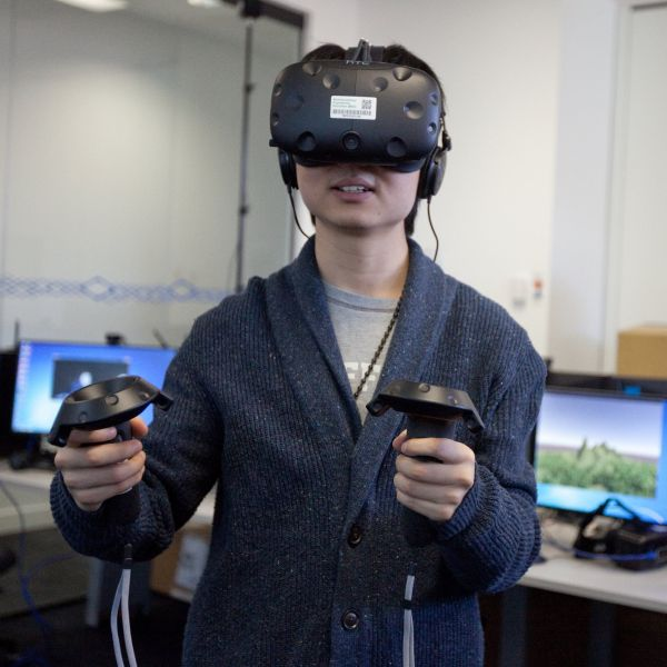 A student using VR.