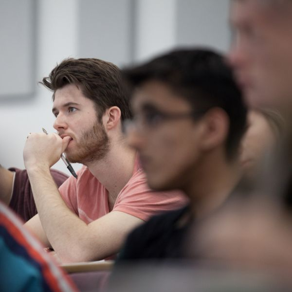 Students attending a lecture - image