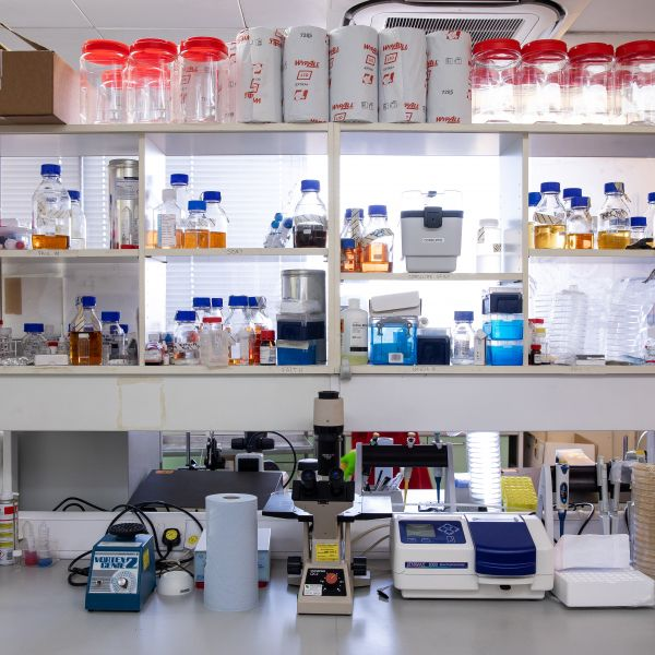 A medical research laboratory