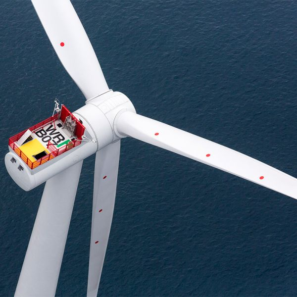Aerial view of Siemens offshore wind power