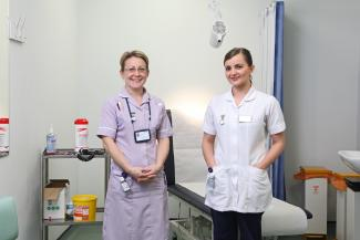 Image of Leander Parkinson and Samantha Treloar from the Department of Nursing and Midwifery