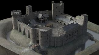Virtual representation of Sheffield Castle