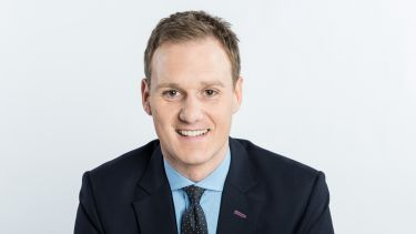 Image of Dan Walker, sports journalist, broadcaster and MA Broadcast Journalism graduate