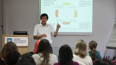 Image of lecture in School of Health and Related Research