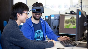Computer Science postgraduates using 3D computer graphics
