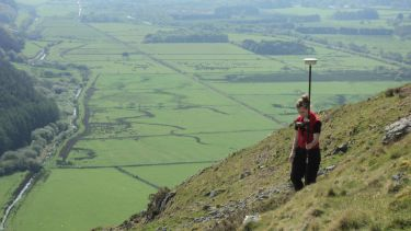 Landscape archaeology postgraduate in field