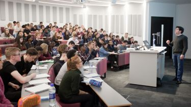Economics students in lecture theatre