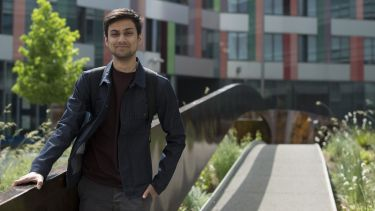 Postgraduate student Arjan poses for the camera.