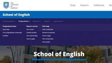 School of English Menu Example