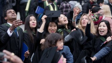 Group of University of Sheffield students graduating
