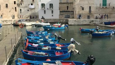 Boats in Monopoli.