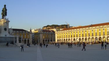 Lisbon at sunset.