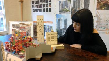 Sarah Habershon working at architectural practice