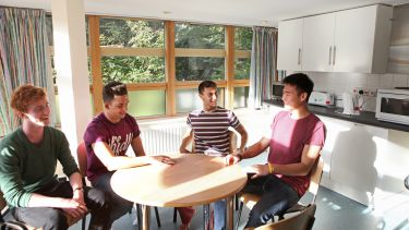 Living area within Carrysbrook with students socialising