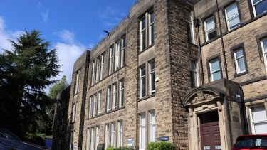 Photo of the front of Elmfield building