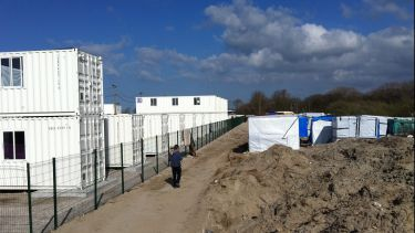 Temporary housing containers