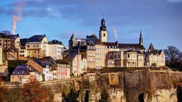 Luxembourg city skyline with St Michael church. Credit Davide Seddio