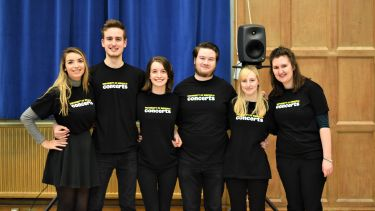 A group of student interns working with University of Sheffield Concerts