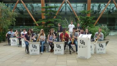 Sheffield University Big Band playing in the Winter Gardens