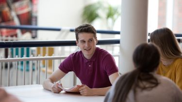Sociological Studies student Tom Whittell in the Students' Union.