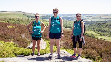 Three participants from the Big Walk 2018