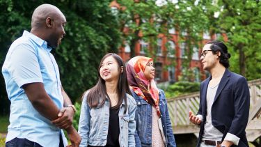 International students in Weston Park